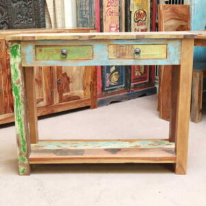 k53-IMG_8457 indian furniture console table reclaimed painted green blue