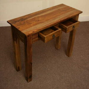 k53-r8057 indian furniture console sheesham 2 drawer legs