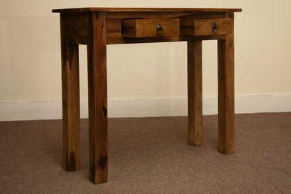k53-r8057 indian furniture console sheesham 2 drawer top