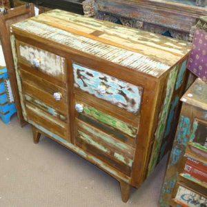 k54-4913 indian furniture sideboard reclaimed vintage green