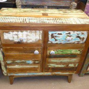 k54-4913 indian furniture sideboard reclaimed vintage blue