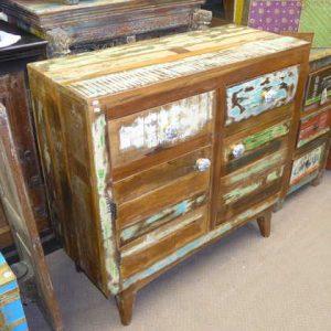 k54-4913 indian furniture sideboard reclaimed vintage brown