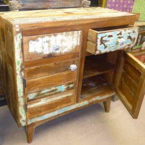 k54-4913 indian furniture sideboard reclaimed vintage white