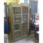 k55-465 indian furniture cabinet slatted closed
