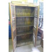k55-465 indian furniture cabinet slatted open