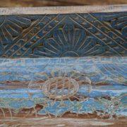k55-471 indian furniture blue shelf carved pattern