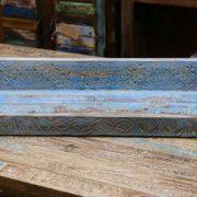 k55-471 indian furniture blue shelf carved flower