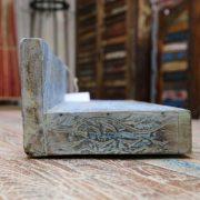 k55-471 indian furniture shelf blue carved edge