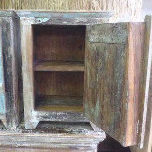 k55-488 indian furniture bedside vintage open