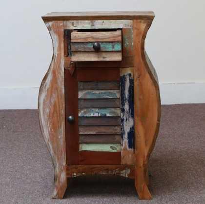 k55-503 indian furniture bedside curvy cupboard drawer