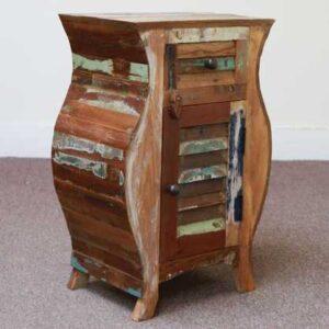 k55-503 indian furniture bedside curvy cupboard hourglass