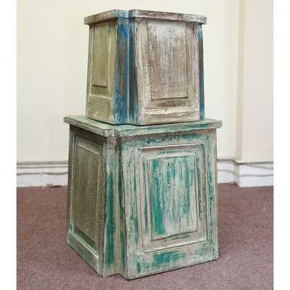 k55-725 indian furniture side table reclaimed different