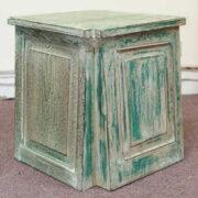 k55-725 indian furniture side table reclaimed large blue