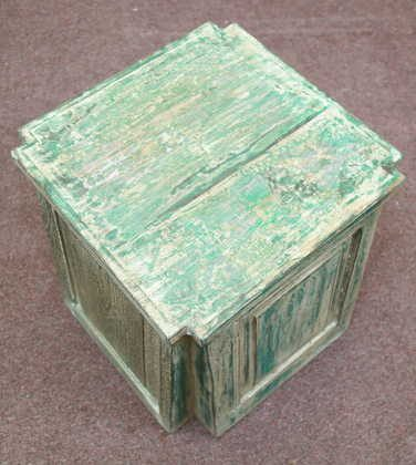 k55-725 Indian furniture side table reclaimed large jade