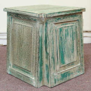 k55-725 indian furniture side table reclaimed large blue