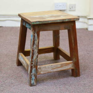 k55-757 indian furniture stool reclaimed angle