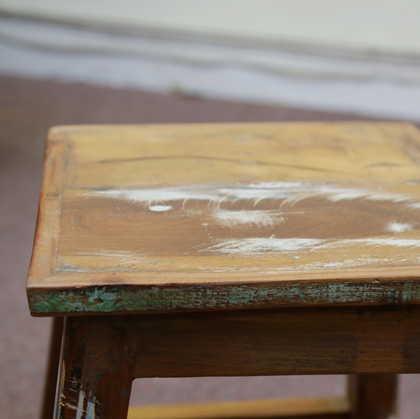 k55-757 indian furniture stool reclaimed finish