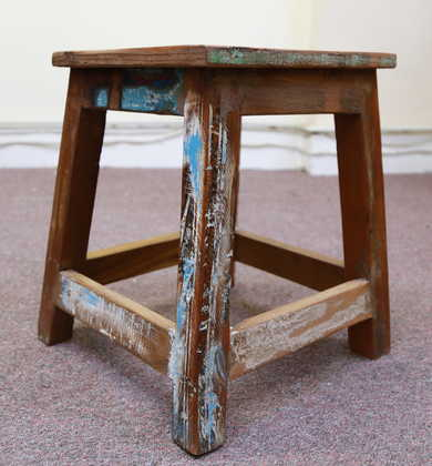 k55-757 indian furniture stool reclaimed charming
