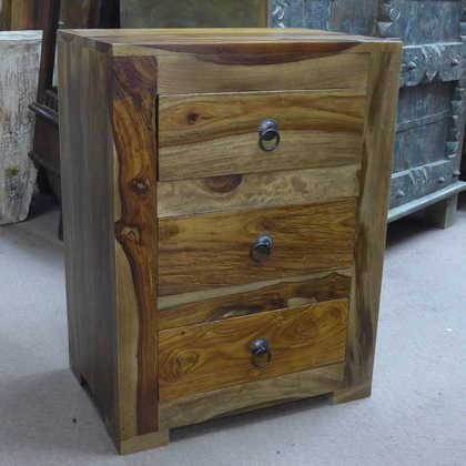 k56-r3976a indian furniture sheesham bedside 3 drawers charming