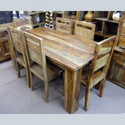 k56-zen-dt-180+6 indian furniture sheesham dining table and chairs home