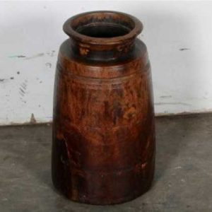 k57-479 indian furniture wooden pot round
