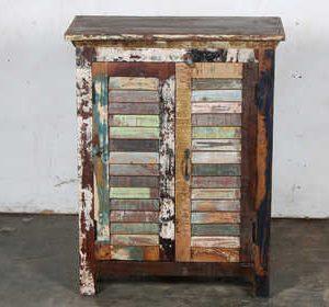 k57-730 indian furniture cabinet slatted colourful