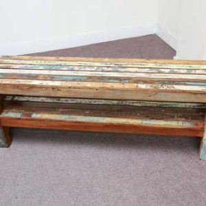 k58-1 indian furniture bench reclaimed shelf hardy
