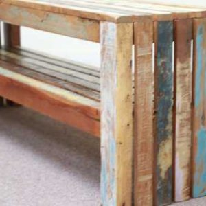 k58-1 indian furniture bench reclaimed shelf recycled