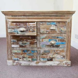 k58-706 indian furniture chest of drawers block drawer open