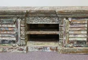 k58-7446 indian furniture tv unit unusual large front