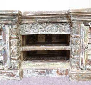 k58-7446 indian furniture tv unit unusual large shelves