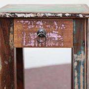 k58-8400 indian furniture side table bedside reclaimed pink