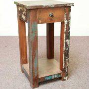 k58-8400 indian furniture side table bedside reclaimed unusual