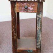 k58-8400 indian furniture side table bedside reclaimed front