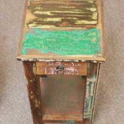 k58-8400 indian furniture side table bedside reclaimed turquoise