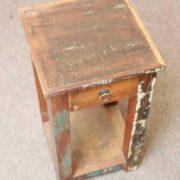 k58-8400 indian furniture side table bedside reclaimed top
