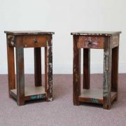 k58-8400 indian furniture side table bedside reclaimed twin
