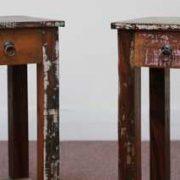 k58-8400 indian furniture side table bedside reclaimed two