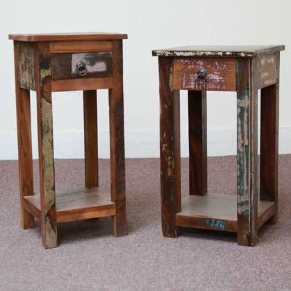 k58-8400 indian furniture side table bedside reclaimed unusual style