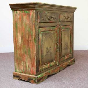 k59-410 indian furniture sideboard camel embossed wooden autumn