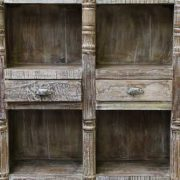 k60-80361 indian furniture bookcase spindles 2 drawers nishan drawer front