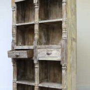 k60-80361 indian furniture bookcase spindles 2 drawers nishan
