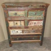 k60-80420 indian chest of 6 drawers reclaimed