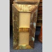 k60-80454 indian photo frame double reclaimed distressed