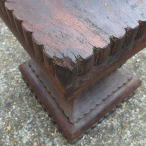 kh-7-kr44a indian furniture table pillar old corner detail