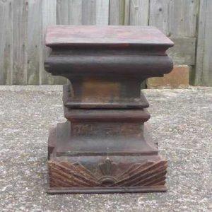 kh-7-kr44b indian furniture table pillar old dark