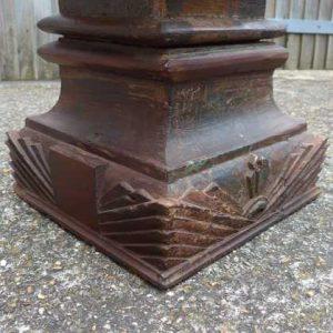 kh-7-kr44b indian furniture table pillar old corner detail