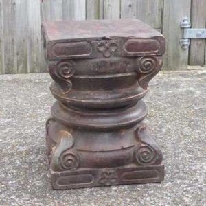 kh-7-kr44c indian furniture table pillar old bottom detail