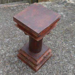 kh-7-kr44d indian furniture table pillar old skinny