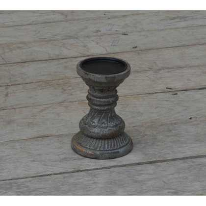 kh10-M-9100 indian furniture wood candlestick dark